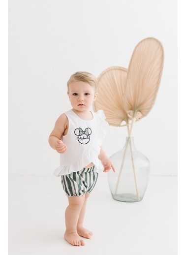 Minnie Mouse Lisanslı Bebek Takım 17451 Ekru